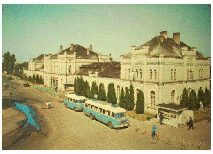 Dworzec kolejowy dawniej
