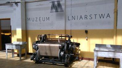 Ekspozycja krosien w Muzeum Lniarstwa